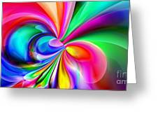 2x1 Abstract 416 Greeting Card