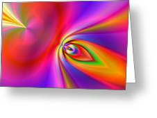 2x1 Abstract 418 Greeting Card