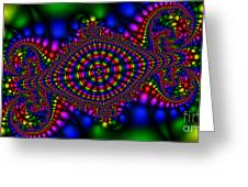 2x1 Abstract 426 Greeting Card