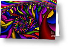 2x1 Abstract 427 Greeting Card