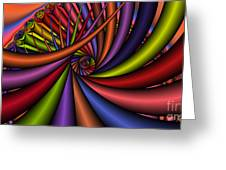 2x1 Abstract 430 Greeting Card