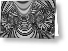 2x1 Abstract 436 Bw Greeting Card