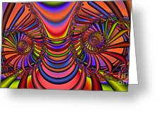 2x1 Abstract 436 Greeting Card