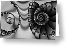 2x1 Abstract 437 Bw Greeting Card