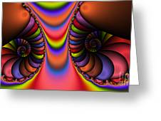 2x1 Abstract 439 Greeting Card