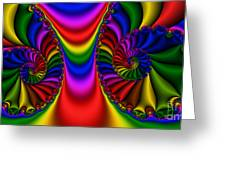 2x1 Abstract 440 Greeting Card