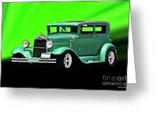 1930 Ford Tudor Sedan Greeting Card