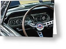 1966 Ford Mustang Cobra Steering Wheel Greeting Card