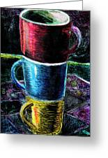 3 4 Coffee Greeting Card