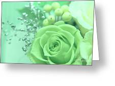 A Gift Of Preservrd Flower And Clay Flower Arrangement, White An Greeting Card