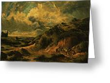 A Heath Painting Painted Originally Greeting Card