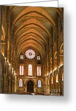 Abbey Of Saint - Remi Reims Greeting Card