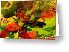 Abstract Landscape, Fall Theme Greeting Card