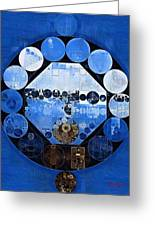 Abstract Painting - Yale Blue Greeting Card
