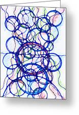 Abstract Pencil Pattern Greeting Card