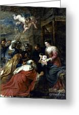 Adoration Of The Magi Greeting Card by Granger