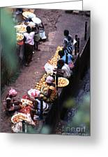 African Market Greeting Card