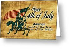 American Revolution Soldier General  Greeting Card by Aloysius Patrimonio