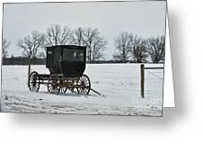Amish Buggy Near Shipshe Greeting Card