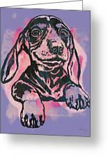 Animal Pop Art Etching Poster - Dog  5  Greeting Card