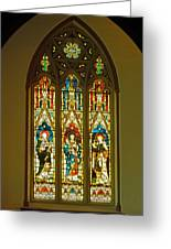 3 Apostles South Stained Glass Window Christ Church Cathedral 1 Greeting Card