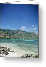 Areia Branca Tropical Beach View Near Dili In East Timor Greeting Card