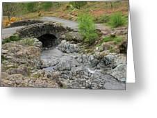 Ashness Stone Packhorse Bridge, Lake District National Park Greeting Card