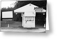 Auburn, Ny - Drive-in Theater Bw Greeting Card