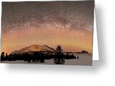 Aurora Borealis And Milky Way Greeting Card