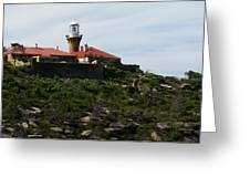 Australia - Barrenjoey Lighthouse On Solid Rock Greeting Card