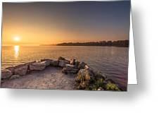 Sunrise At Sibbald Point Greeting Card