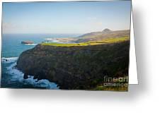 Azores Coastal Landscape Greeting Card