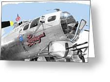 B-17g Flying Fortress Sentimental Journey 2 Avra Valley Arizona 1991 Color Added 2008 Greeting Card