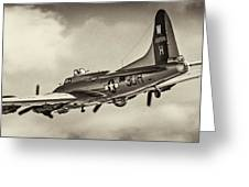 B17 Flying Fortress Greeting Card