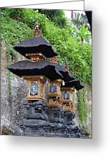 3 Bali Shrines Greeting Card
