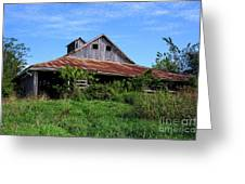 Barn In The Blue Sky Greeting Card