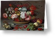 Basket Of Flowers Greeting Card