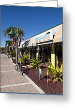 Beachland Boulevard At Vero Beach In Florida Greeting Card