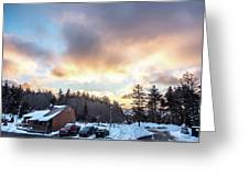 Beautiful Sunrise Over Horizon On Snowshoe Mountain West Virgini Greeting Card