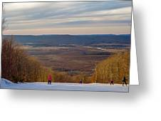 Beautiful Winter Landscape At Timberline West Virginia Greeting Card