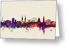 Belfast Northern Ireland Skyline Greeting Card