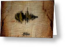 Believe Recorded Soundwave Collection Greeting Card