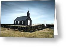 Black Church Of Budir, Iceland Greeting Card