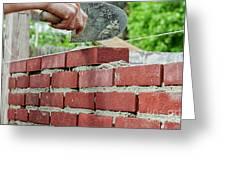 Bricklaying Greeting Card