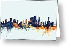 Brisbane Australia Skyline Greeting Card
