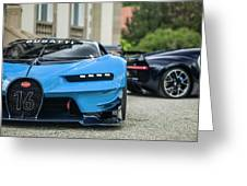 Bugatti Chiron And Vision Gt Greeting Card
