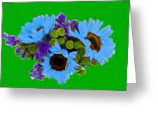 Bunch Of Pretty Flowers Greeting Card