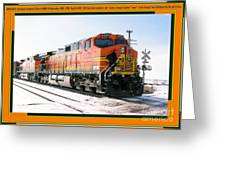 Burlington Northern Santa Fe Bnsf - Railimages@aol.com Greeting Card