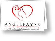 Red And White Angelfayss Greeting Card