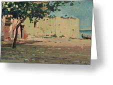 Case Sulla Marina Di Laigueglia Greeting Card